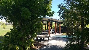 BBQs and shelters at All Abilities Playground