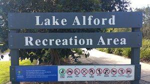 Lake Alford sign